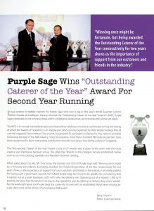 Purple Sage Wins Outstanding Caterer of the Year on Catering Online