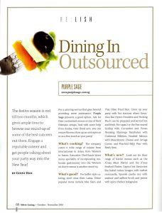 Dining In Outsource on Silver Lining